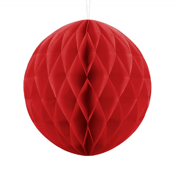 30cm Honeycomb Ball - Red
